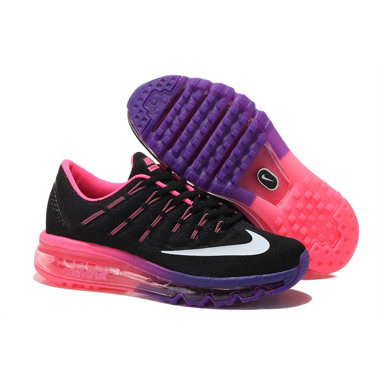 first rate 05cac 058ce Nike Air Max 2016 Femme Mesh Chaussures Running Noir Violet