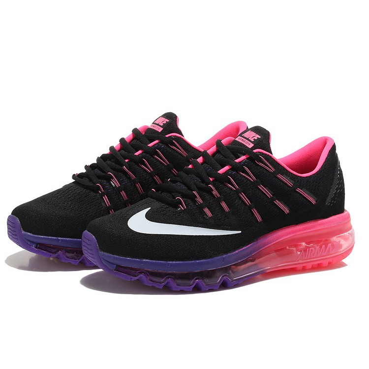Nike Air Max 2016 Femme Mesh Chaussures Running Noir Violet Rose