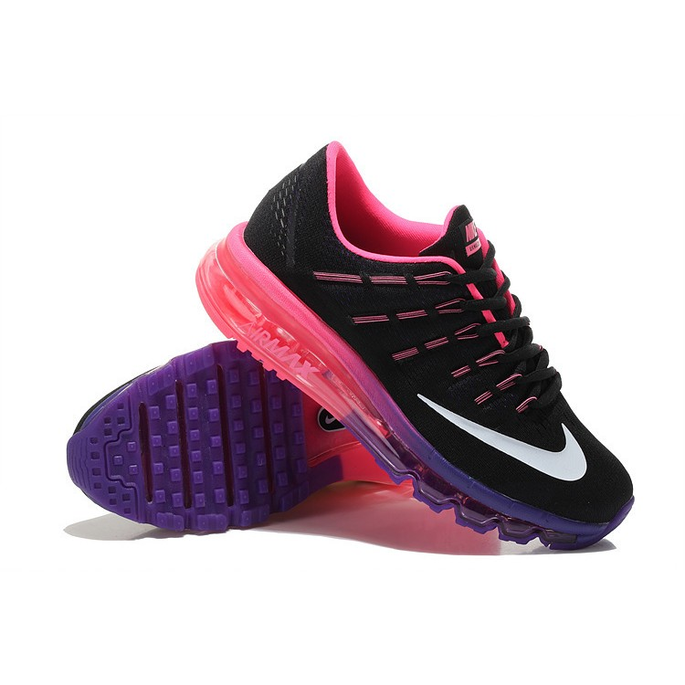 8e8e0dd793b ... coupon for nike air max 2016 femme mesh chaussures running noir violet  rose 3755c 142ab