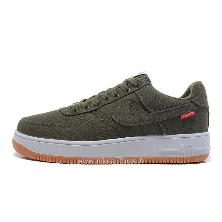 Nike Air Force 1 Basse Toile Army Vert Chaussure